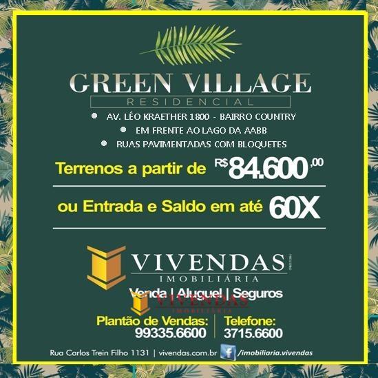 LANÇAMENTO - LOTEAMENTO GREEN VILLAGE