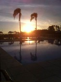 Pôr-do-sol no lago