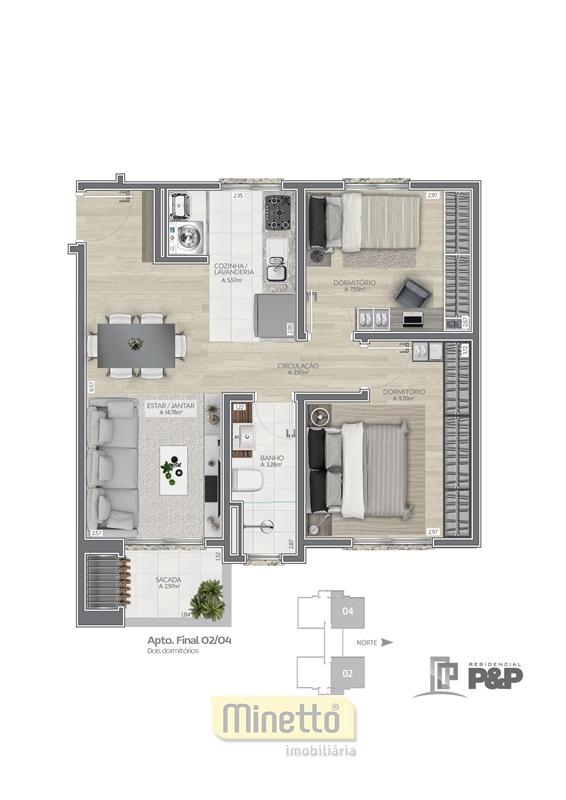 p&p 02 dormitórios