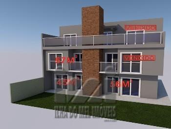 134PL/ Apartamento frente para o mar. Financie!!!