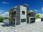 Casa construção nova de esquina.