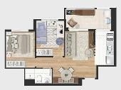 Apartamento de 2 dormitórios Jardim Umarizal