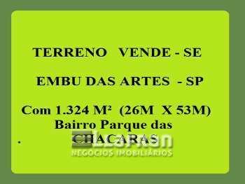 Terreno Parque das Chácaras Embu das Artes