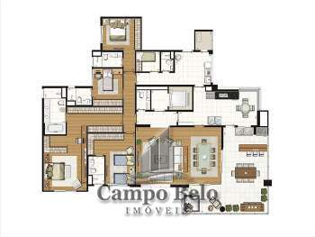 Apartamento no Campo Belo com 4 Suítes