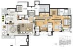 203 m² - Living estendido