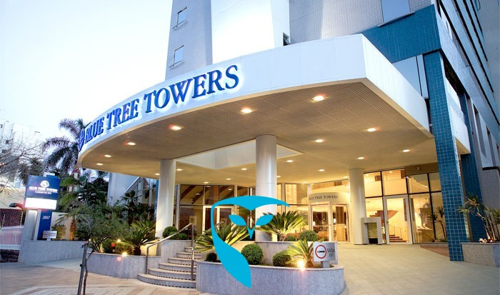 FLAT BLUE TREE TOWERS