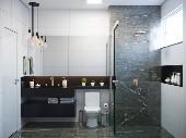 Banheiro social apto tipo