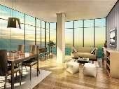 Apartamento 2 dormitórios com vista para o mar