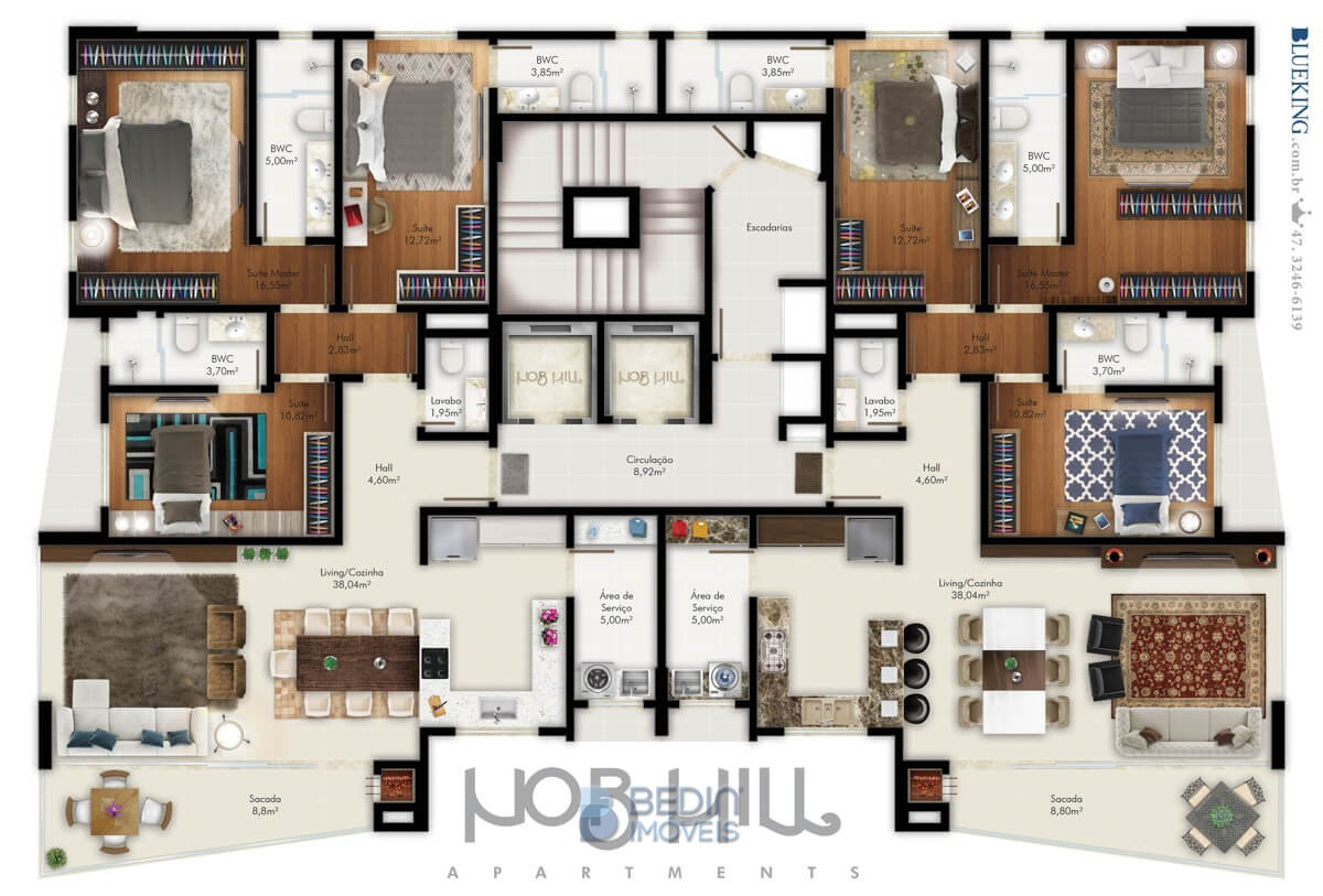 Nob Hill - Planta apartam
