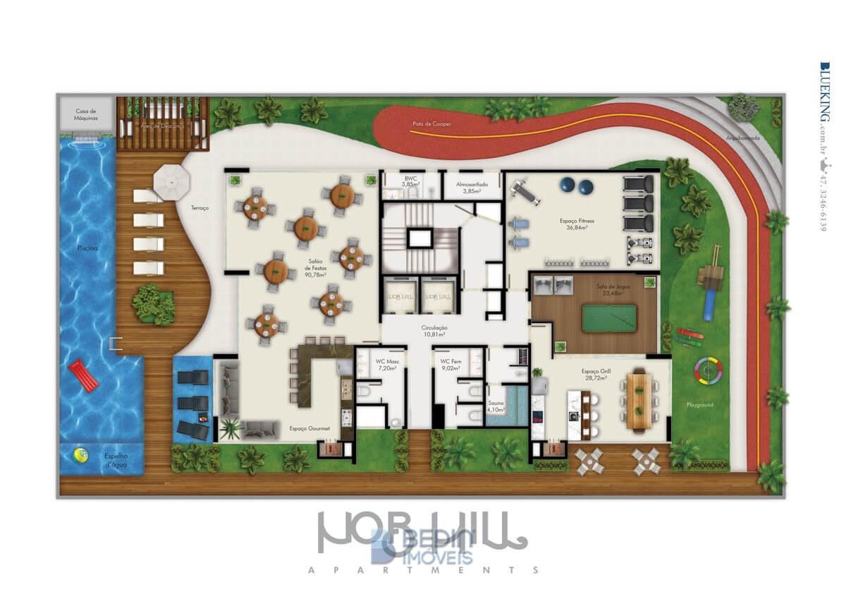 Nob Hill - Planta área de