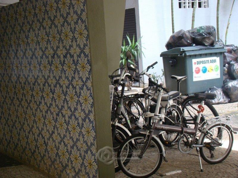 Bicicletário + lixo recic