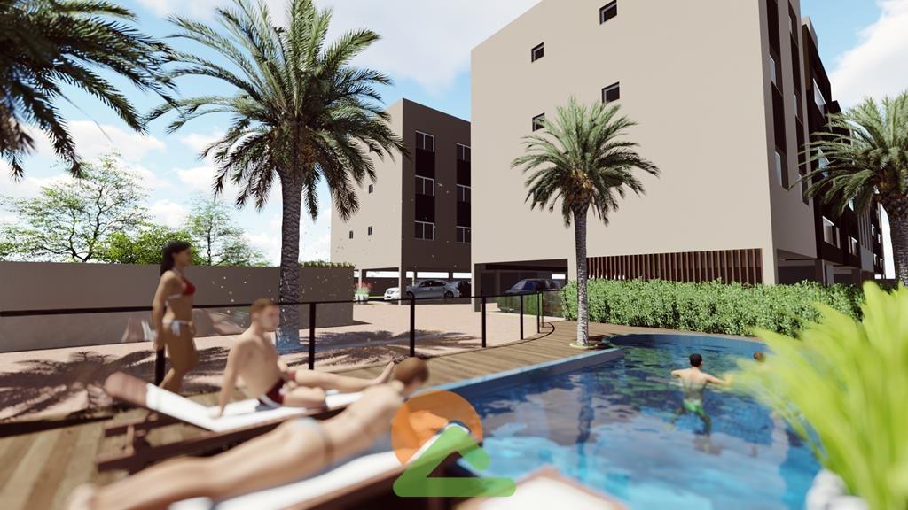 Condomínio com piscina.