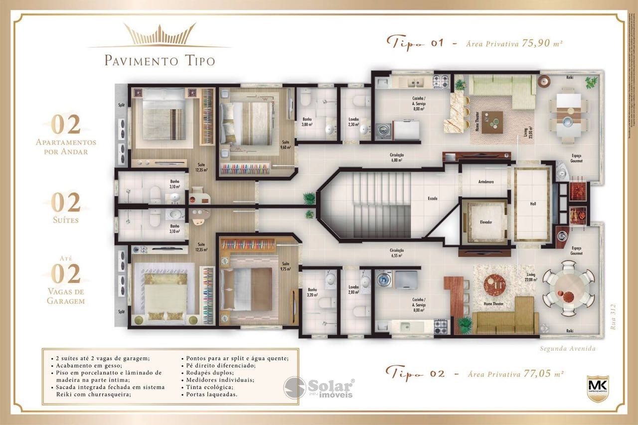 16 Planta Apartamento