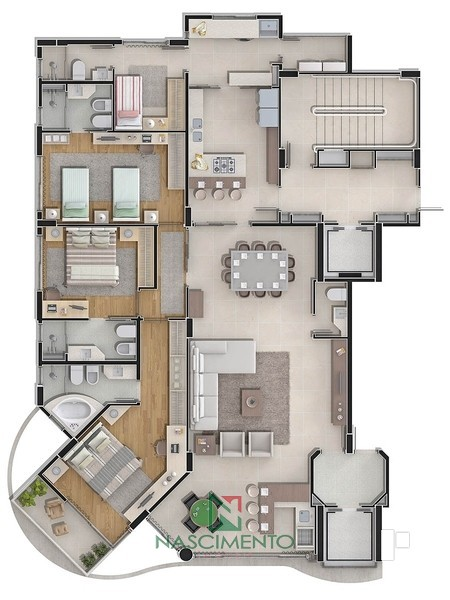 Apartamento tipo torre 3