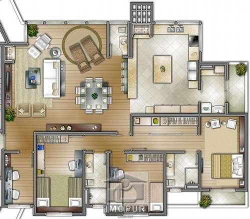 Apto com 3 dormitórios