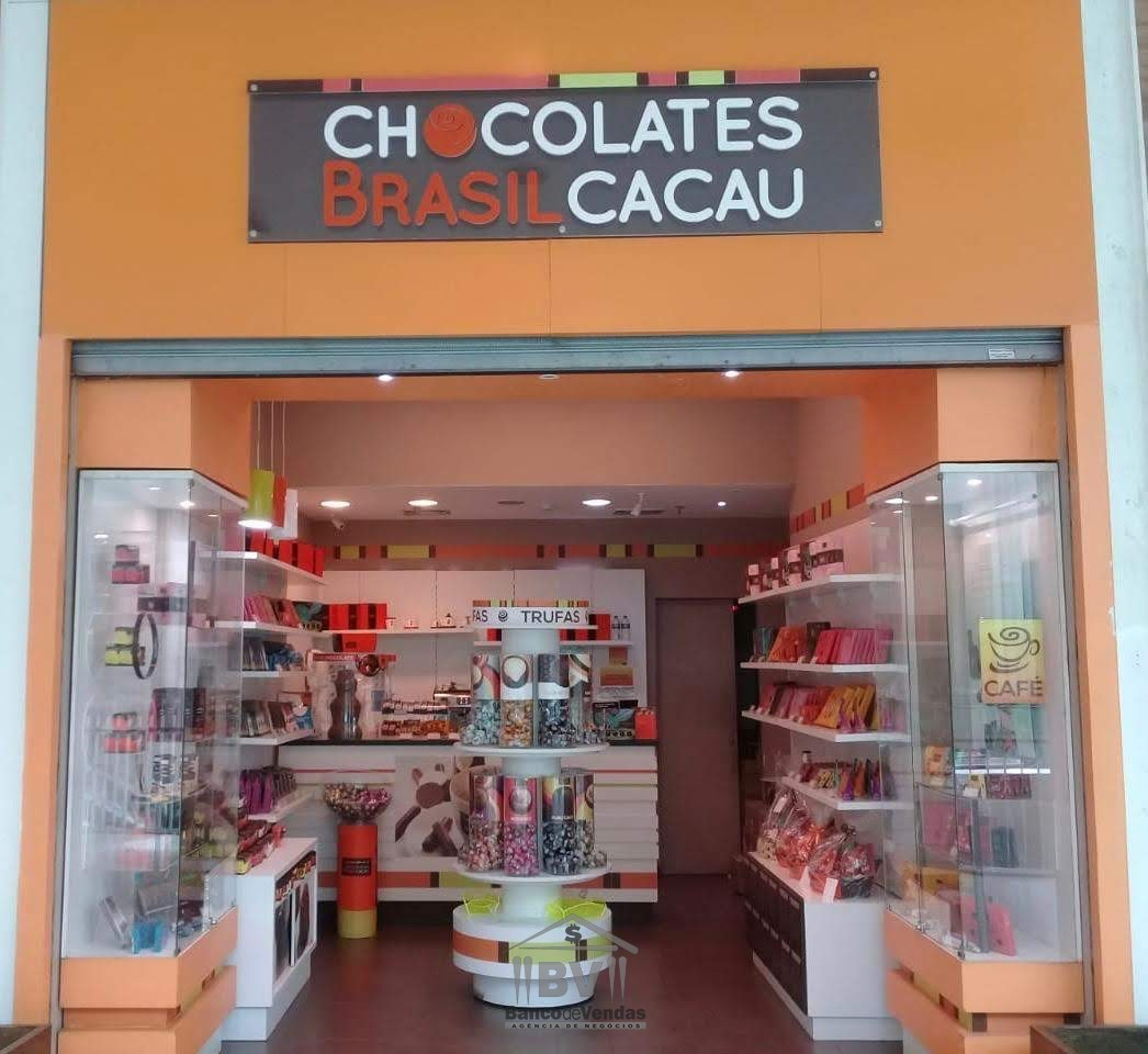 Franquia de chocolates em shopping center